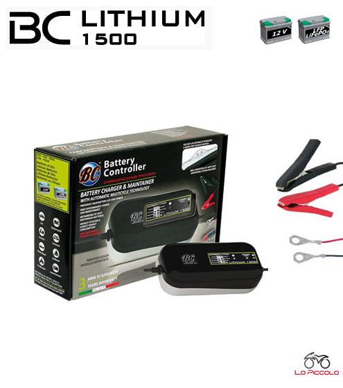 Bc lithium 1500 caricabatterie mantenitore di carica for Caricabatterie auto moto lidl